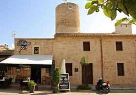 Pastisseria, cafè bar, Ses Salines. Pintures Mallorca Toni Revilo